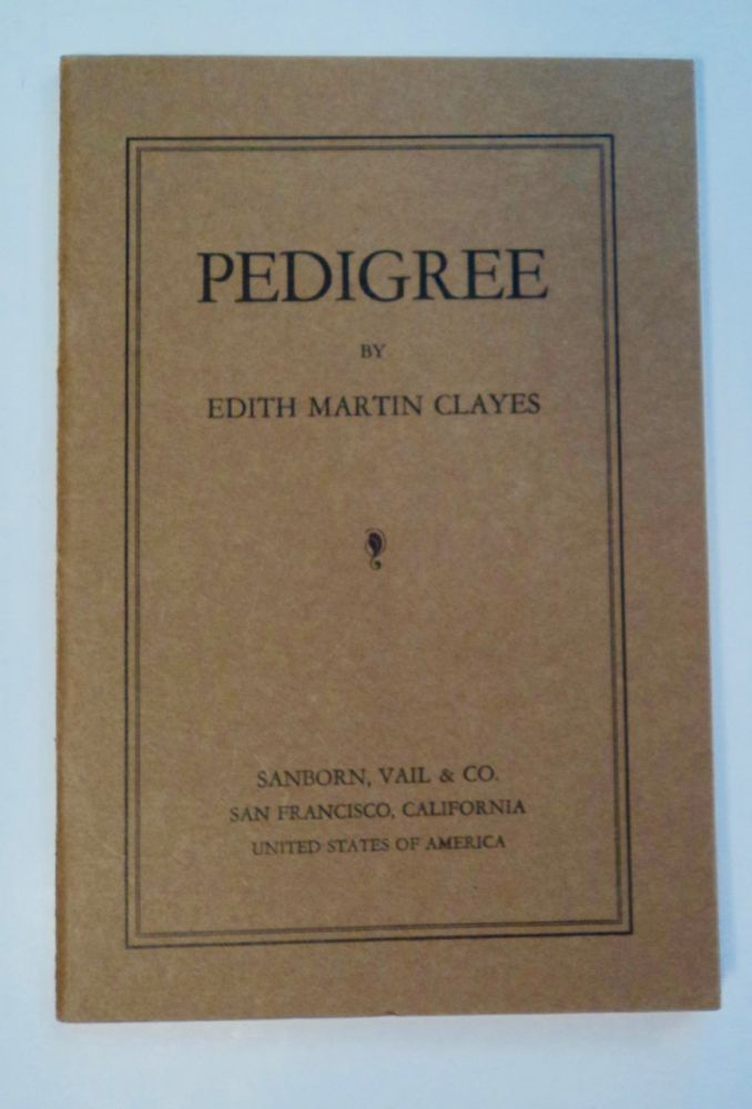 Pedigree. Edith Martin CLAYES.