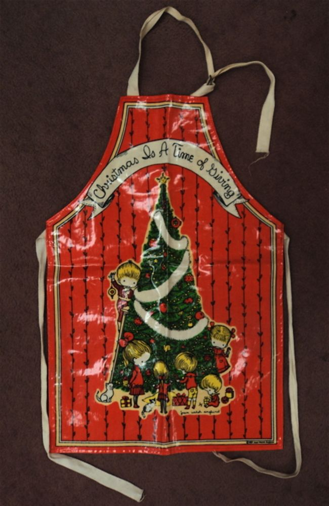 Christmas is A Time of Giving Child's Bib Apron. Joan Walsh ANGLUND.