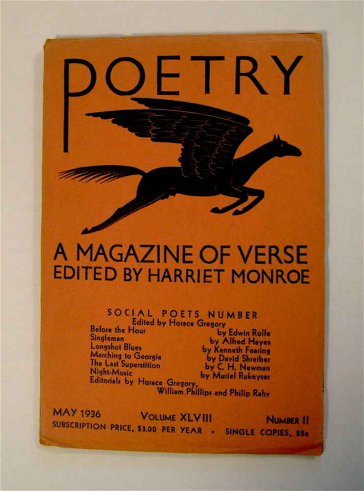 """POETRY: A MAGAZINE OF VERSE (""""Social Poets Number"""")"""