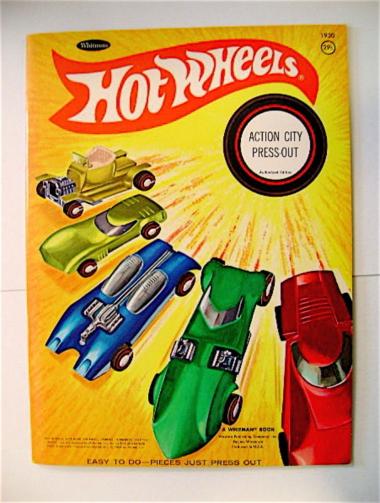 HOT WHEELS ACTION CITY PRESS-OUT