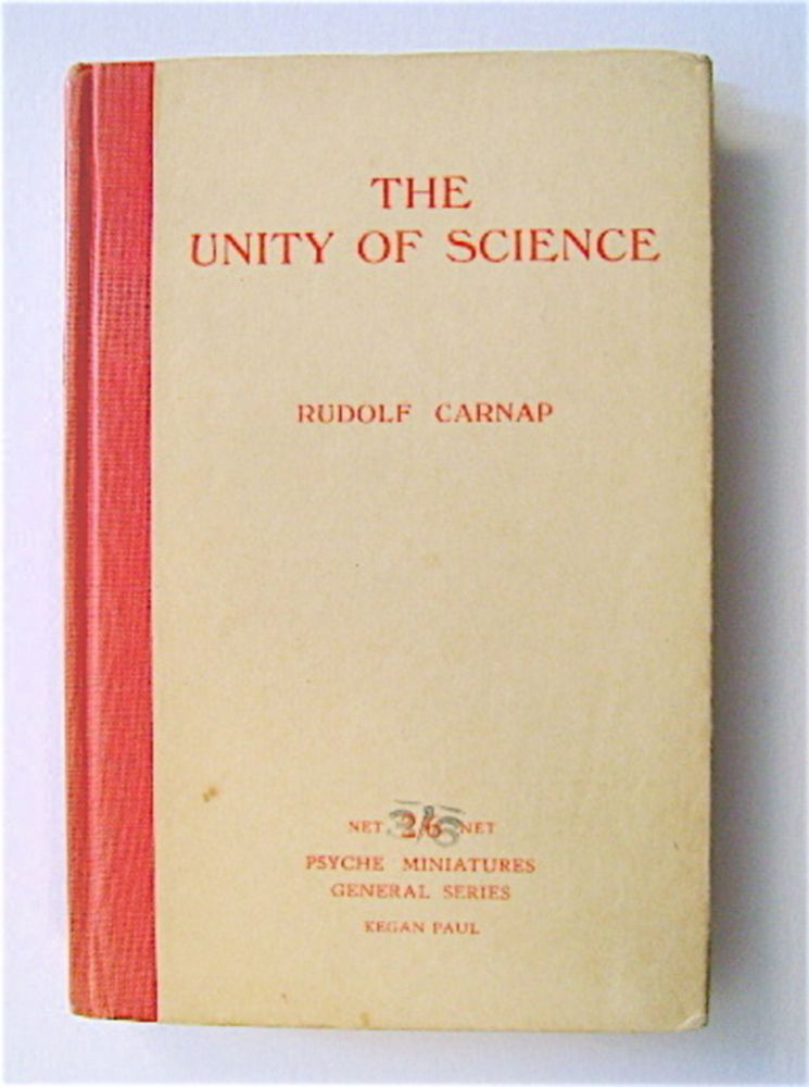 The Unity of Science. Rudolf CARNAP.
