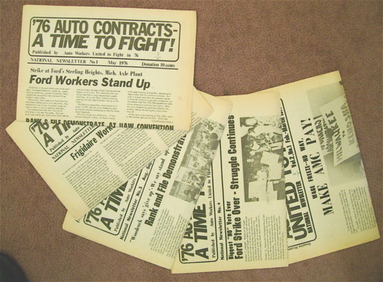 '76 AUTO CONTRACTS- A TIME TO FIGHT: NATIONAL NEWSLETTER