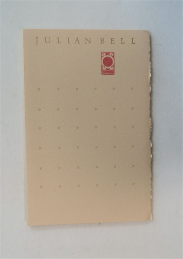 Still Life and Other Poems. Julian BELL.