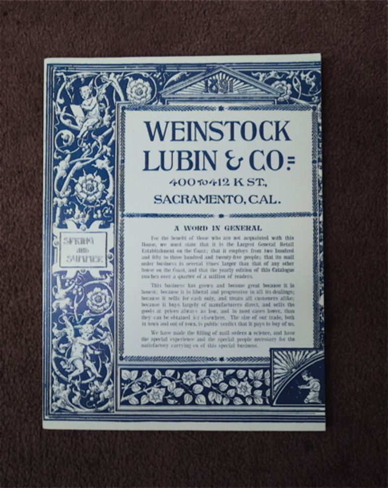 1891 EDITION OF THE WEINSTOCK LUBIN CO. CATALOG