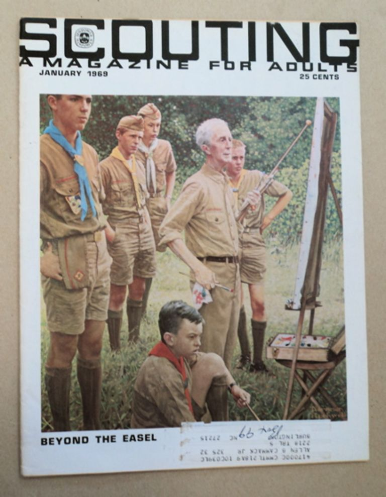"""""""Beyond the Easel."""" In """"Scouting: A Magazine for Adults"""" Norman ROCKWELL."""