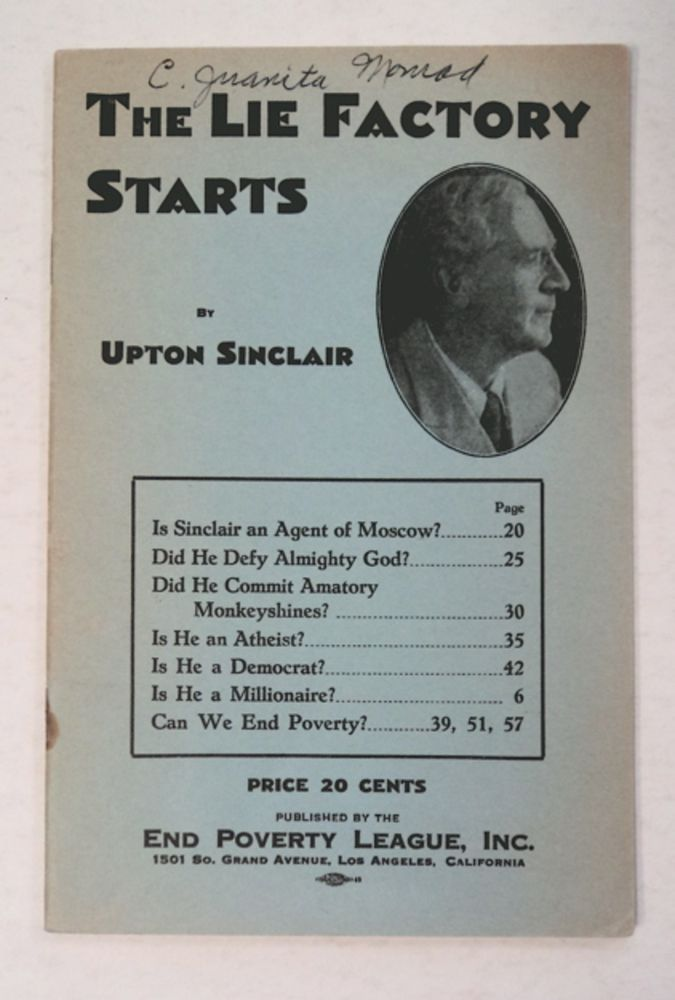 The Lie Factory Starts. Upton SINCLAIR.