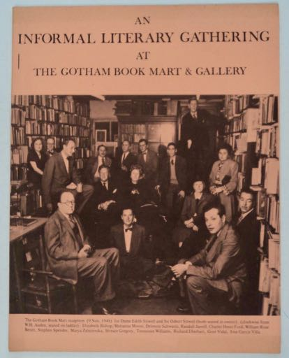 An Informal Literary Gathering at the Gotham Book Mart & Gallery. GOTHAM BOOK MART.