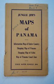 JUNGLE JIM'S MAPS OF PANAMA: INFORMATION MAP OF ENTIRE COUNTRY; SHOPPING MAP OF PANAMA; SHOPPING MAP OF COLON; MAP OF PANAMA CANAL ZONE