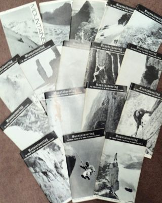 MOUNTAINEERING: THE OFFICIAL JOURNAL OF THE BRITISH MOUNTAINEERING COUNCIL