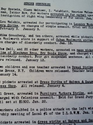 Report of Arrests for the Month of January, 1934