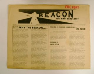 THE BEACON: FOR NMU DEMOCRACY