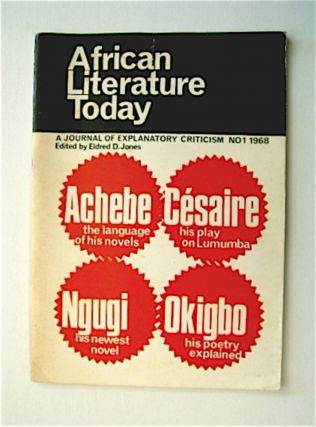 AFRICAN LITERATURE TODAY: A JOURNAL OF EXPLANATORY CRITICISM