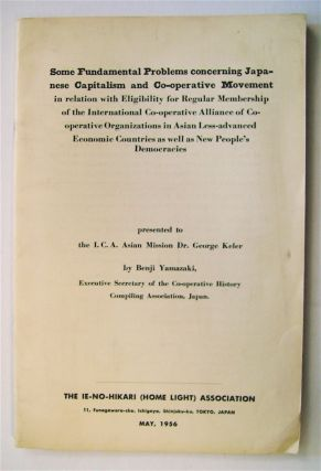 Some Fundamental Problems Concerning Japanese Capitalism and Co-operative Movement in Relation...