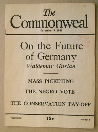 """On the Future of Germany."" In ""The Commonweal"" Waldemar GURIAN"
