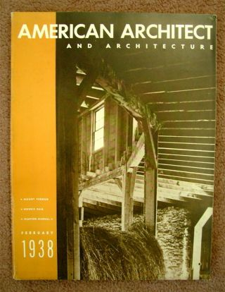 """Toward a Living Architecture."" In ""American Architect and Architecture"" Walter GROPIUS"