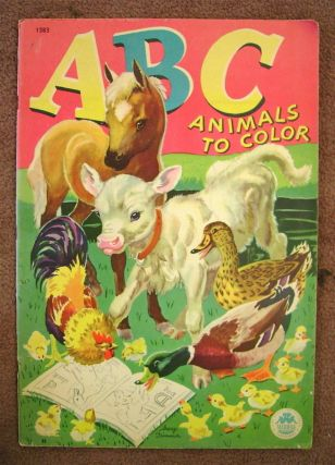 ABC ANIMAL COLORING BOOK (cover title: ABC Animals to Color