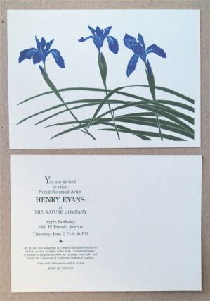 You Are Invited to Meet Noted Botanical Artist Henry Evans at The Nature Company, North Berkeley,...