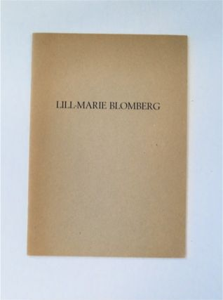 LILL-MARIE BLOMBERG 1923-1992
