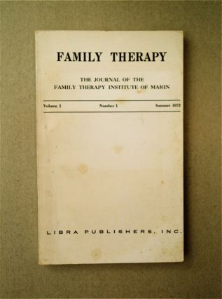 FAMILY THERAPY: THE JOURNAL OF THE FAMILY THERAPY INSTITUTE OF MARIN