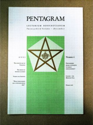 PENTAGRAM: JOURNAL OF THE INTERNATIONAL SCHOOL OF THE GOLDEN ROSYCROSS, LECTORUM ROSICRUCIANUM