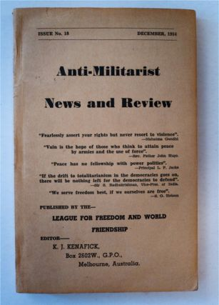 ANTI-MILITARIST NEWS AND REVIEW