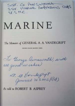 Once a Marine: The Memoirs of General A. A. Vandegrift, United States Marine Corps