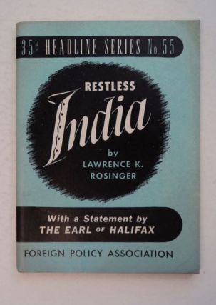 Restless India. Lawrence K. ROSINGER