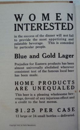 The Blue and Gold Cook Book: Recipes of Quality