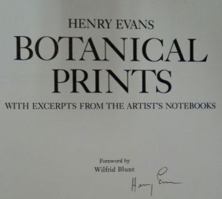 Botanical Prints: With Excerpts from the Artist's Notebooks