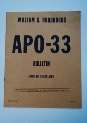APO-33 Bulletin: A Metabolic Regulator: A Report on the Synthesis of the Apomorphine Formula....