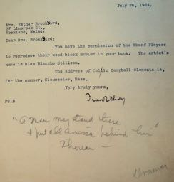 TLs dated 7/26/24 on the letterhead of the Wharf Players, Provincetown, Mass., of which Shay was the Director