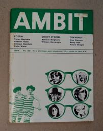 AMBIT: A QUARTERLY OF POEMS, SHORT STORIES, DRAWINGS AND CRITICISM