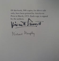 Late, Later and Possibly Last: Essays by Vincent Starrett